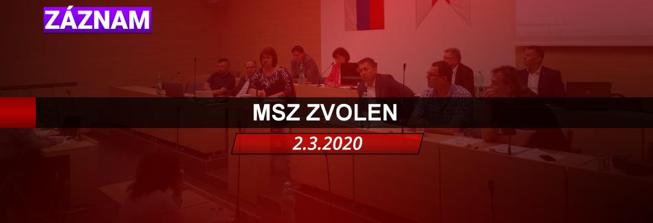 MSZ ZVOLEN 2.3.2020