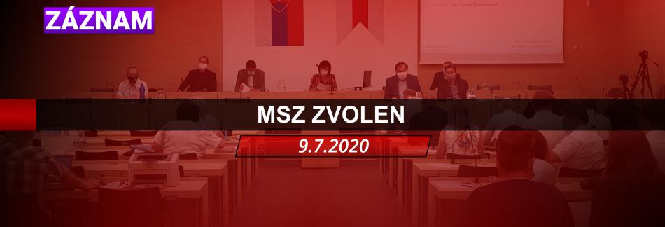 ZÁZNAM MSZ ZVOLEN 9.7.2020