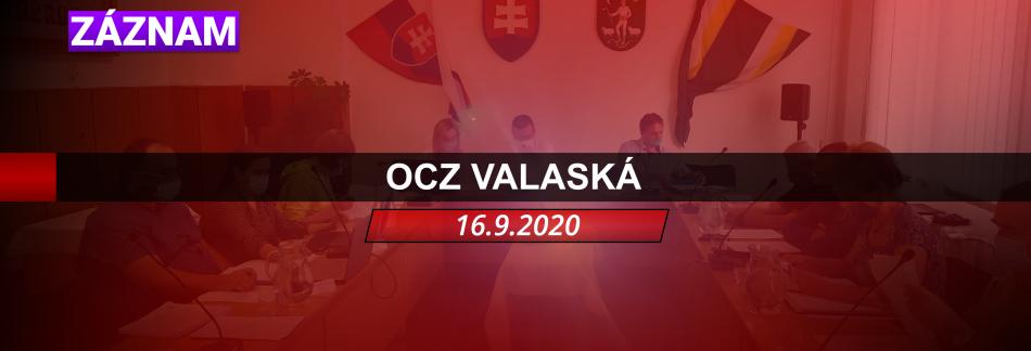 ZÁZNAM OCZ VALASKÁ 16.9.2020